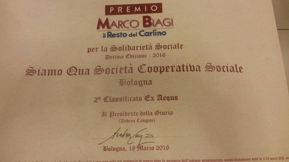 Premio Marco Biagi – secondi classificati